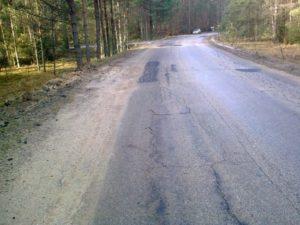 Przebudowa ciągu dróg powiatowych Tuchola – Tleń – Osi - przed