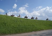 Jeźdzcy ze Stadniny Koni Arkadia