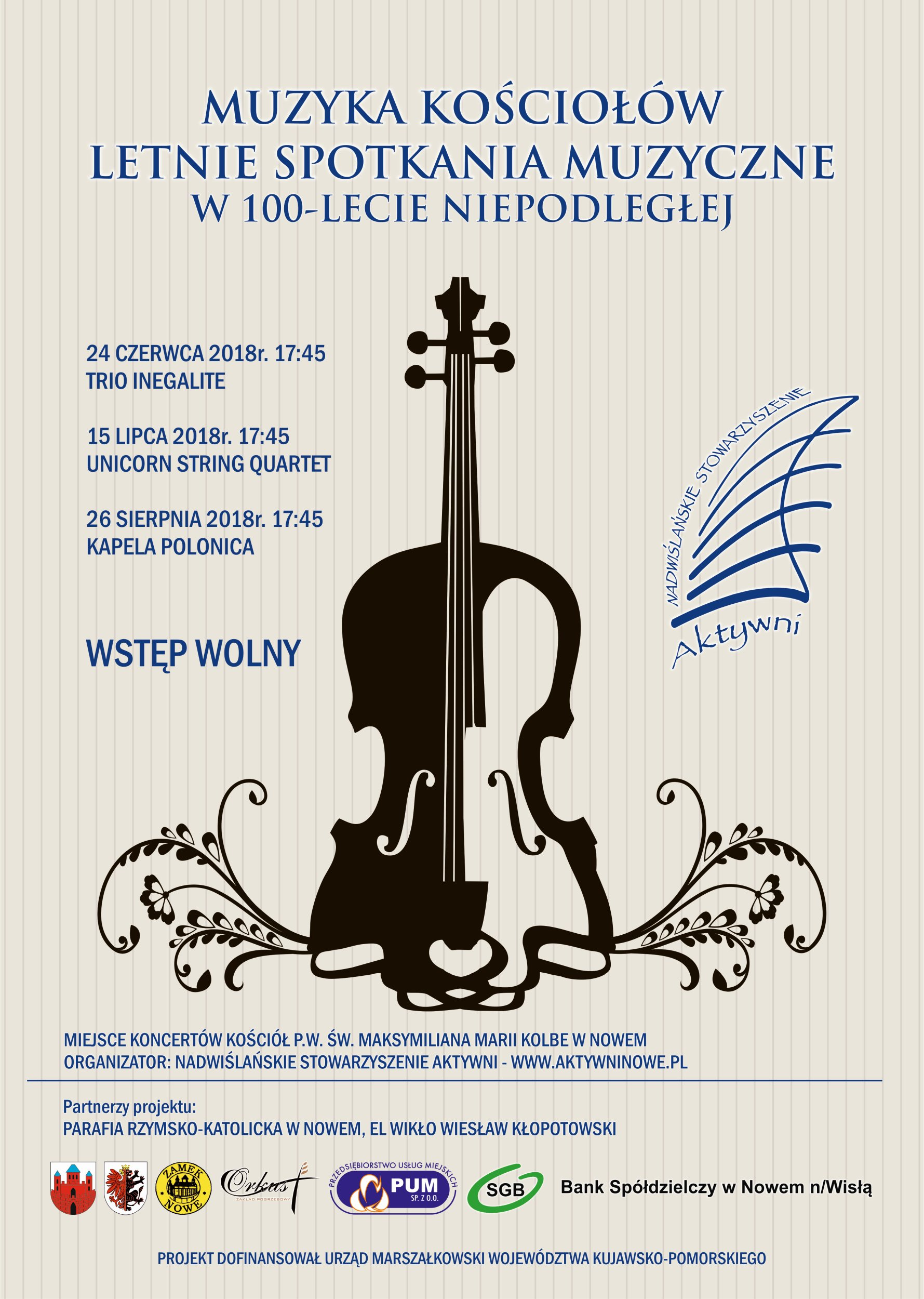 Plakat Muzyka Kościołów