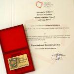 Odznaczenie oraz uchwała Bene Meritus od Związku Powiatów Polskich