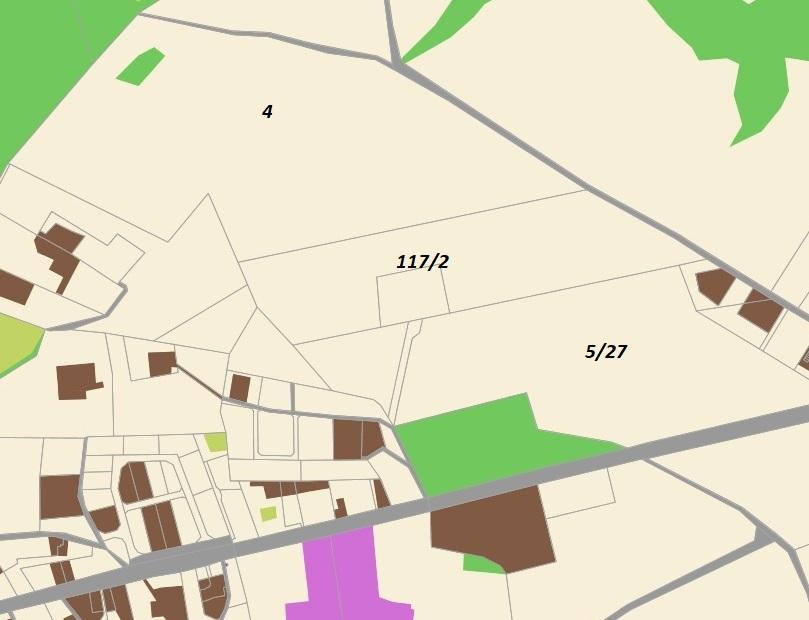 Działki : 4 – 16 ha, 117/2 – 5 ha, 5/27 – 4 ha