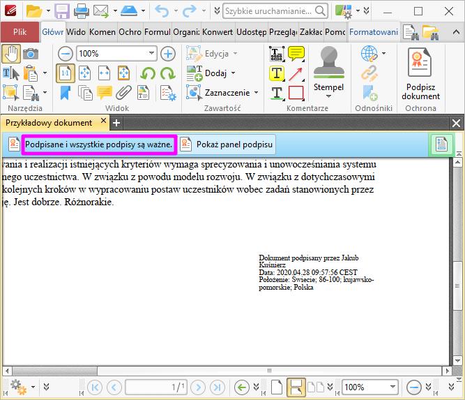 PDF XChange Editor Poprawna Weryfikacja2
