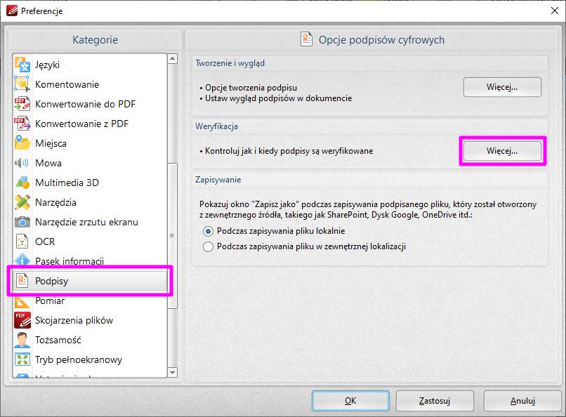 PDF XChange Editor Ustawienia1